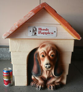 Vintage HUSH PUPPIES Brand Shoes Basset Hound Toy Box Advertising Dog House
