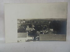 VINTAGE REAL PHOTO POSTCARD TOWN VIEW LOOKING OVER DUDLEY MASSACHUSETTS