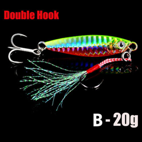 Bass Hook Jig Bait Feather Metal Fishing Lures Spinning Baits Lead Casting