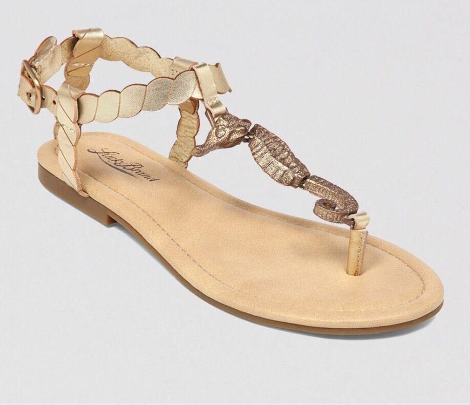 Lucky Brand Brand Brand oro Seahorse Sandalias Nuevo Sin Caja 5.5 puede caber 6  salida para la venta