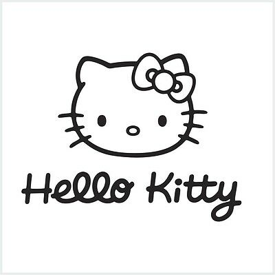 Vinilos Hello Kitty Pared.Cara De Hello Kitty Funda Arco Pared Coche Laptop Ventana Vinilo Autoadhesiva De Calcomanias M1 Ebay