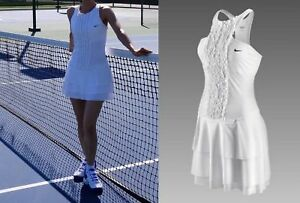 Nwt-NEW-Nike-GORGEOUS-white-Womens-Tennis-Dress-S-Small-M-Medium-Skirt-Outfit