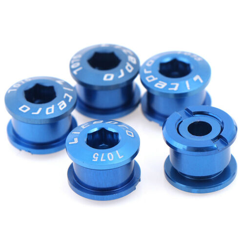 5PCS Bike Chainring Bolts Single//Double//Triple Speed Chain ring ScDOFS