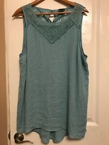 Torrid-Women-Mint-Upper-Lace-Sleeveless-Tank-Top-Size-3