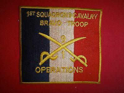 US 1st Squadron 9th Cavalry Regiment BRAVO Troop OPERATIONS Vietnam War Patch