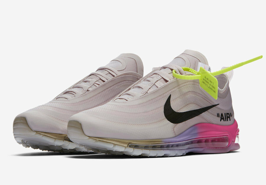 Nike Air Max 97 Off-White Elemental pink Serena Williams Size 11.5 AJ4585 600