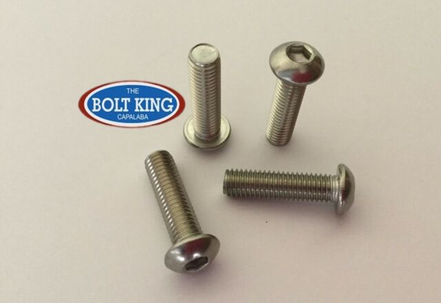 M6 x 55mm Button head socket screw 304 stainless steel QTY 100