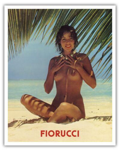 Fiorucci Nude Girl on Beach 1970s Vintage Advertising Poster Fine Art Print