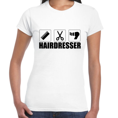 Grabmybits-Mesdames montés coiffeur T SHIRT-Coupe de cheveux cadeau tee styliste