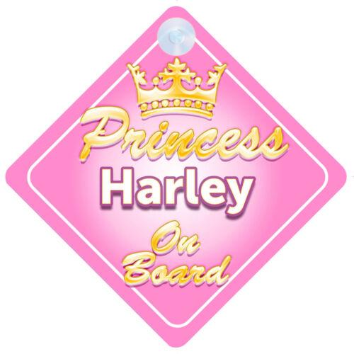 La princesse Harley à bord personnalisé bébé fille VOITURE SIGNE