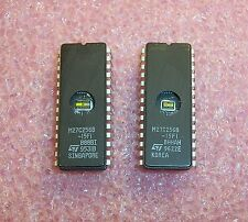 QTY (5) M27C256B-15F1 ST MICRO  EPROM REMOVED FROM SOCKETS CLEANED & ERASED