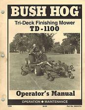 Bush Hog Td 1100 Tri Deck Finishing Mower Operators Manual 50024754