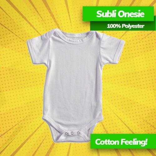 5 pk Sublimation Blank IDEL FOR SUBLIMATION PRINT BABYSUIT