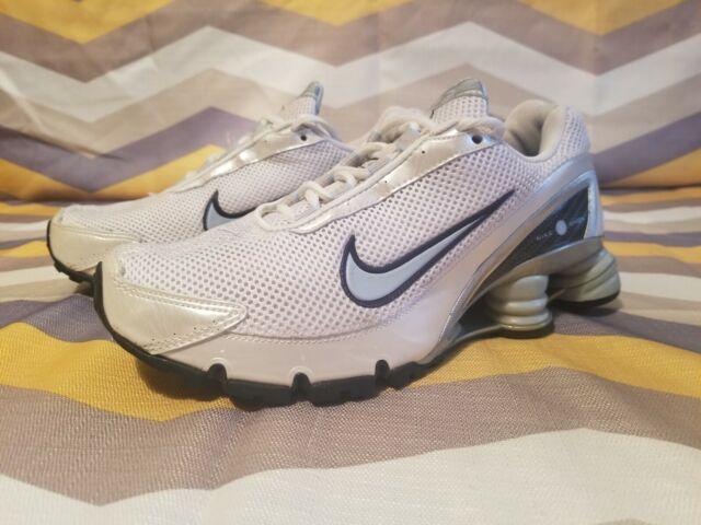 Nike Shox - Women's Size 7, White/Silver/Light Blue