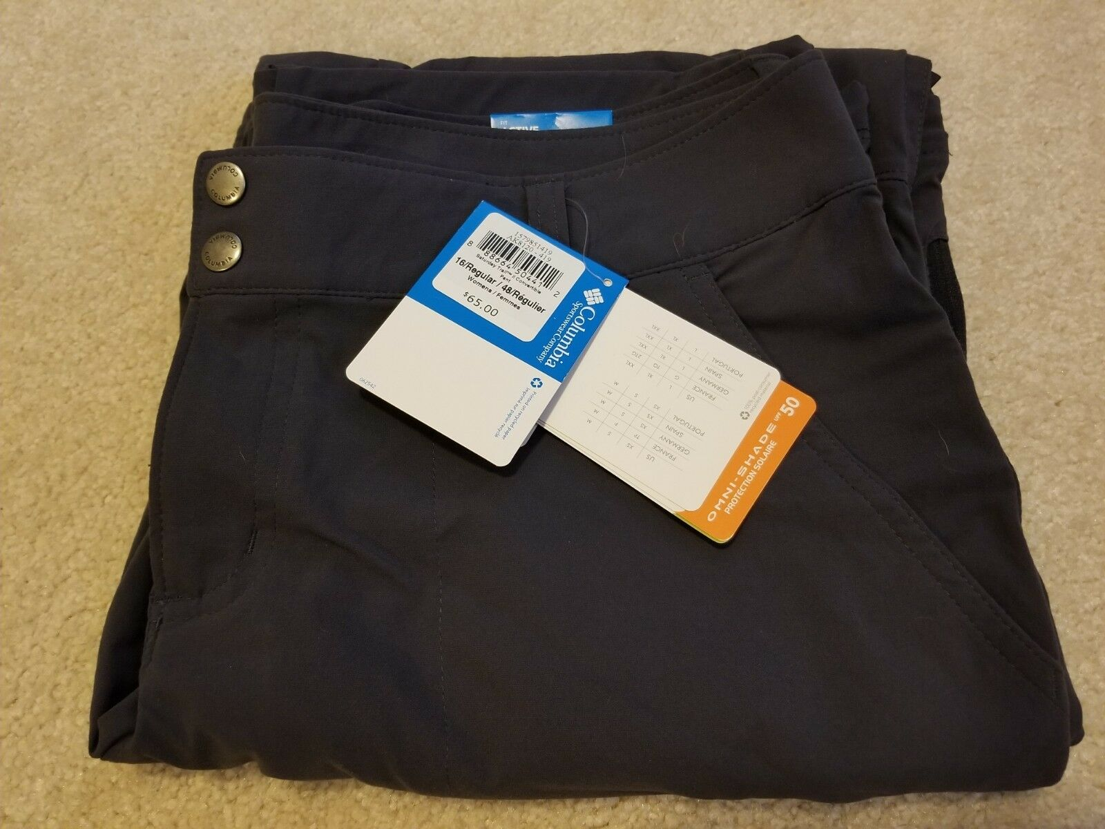 Columbia Women's Saturday Trail II Congreenible Hiking Pants New With Tags 16 Reg