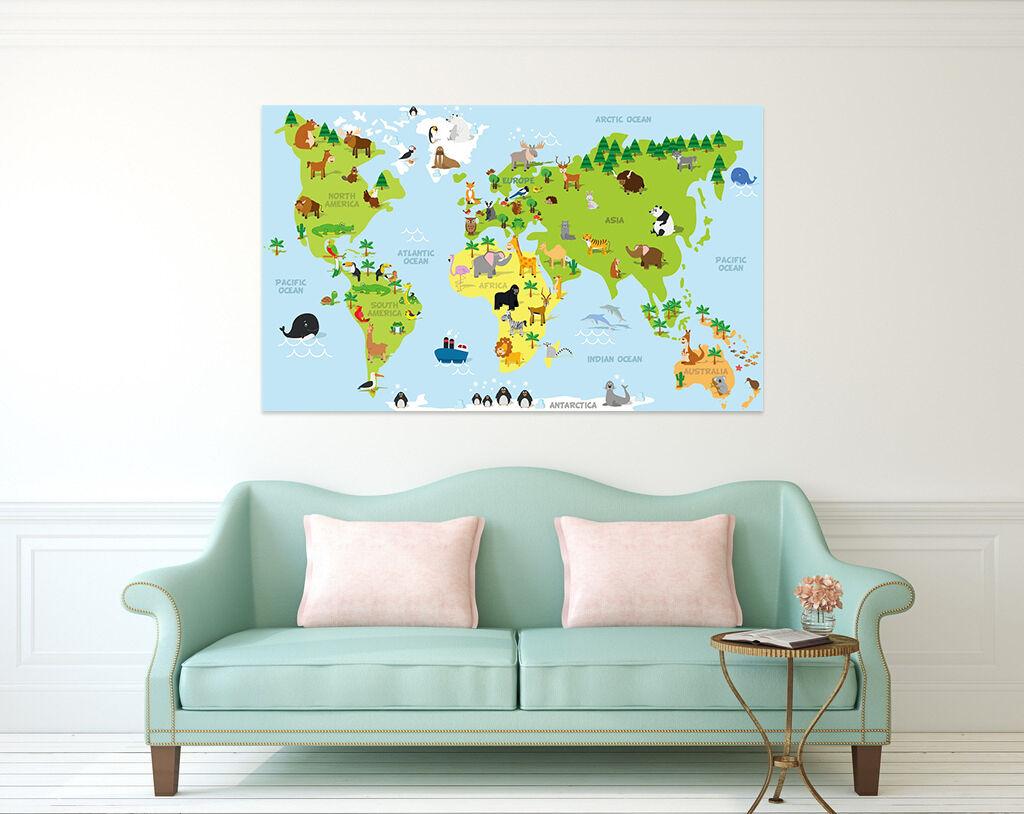 3D Grün Blau Tier Weltkarte Weltkarte Weltkarte 853 Fototapeten Wandbild BildTapete AJSTORE DE Lemon | Ausgezeichnete Leistung  0f0744