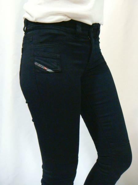 NWT Diesel Women's Stretchy Skinny Jegging Denim Jeans Jegonfire 881B Dark bluee