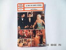 CARTE FICHE CINEMA 1970 LE BAL DU COMTE D'ORGEL Brialy Sylvie Fennec