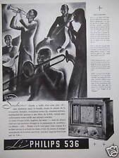 PUBLICITÉ RADIO PHILIPS 535 JAZZ HOT CAPTÉ DE NEW YORK - DESSIN DE FRESA