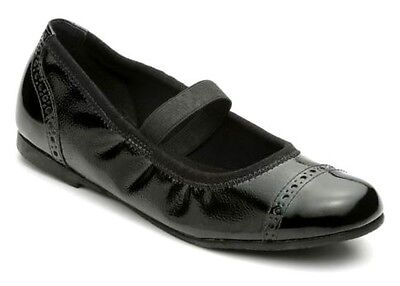 Start-Rite Infant Girls Black Patent Mary Jane Ballerina Leather New Flat Shoes