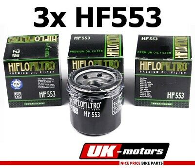3x Hiflo Ölfilter Oil Filter HF553 Benelli TNT 1130  Cafe Racer