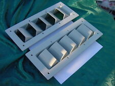 "SILVERTON SEA RAY GREY SIDE HULL VENT LOUVER 14"" BOAT NEW 14-1/8"" X 5-5/8""  PAIR"