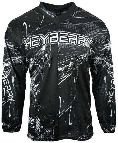 Heyberry Motocross MX Shirt Jersey Trikot schwarz weiß Gr M L XL XXL