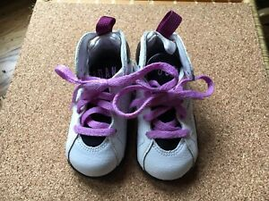 new style 2dc7a 826f5 Details about Kids JORDANS SIZE 5C 7s Purple White And Black