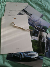 Maybach Press Release brochure 2003 German text