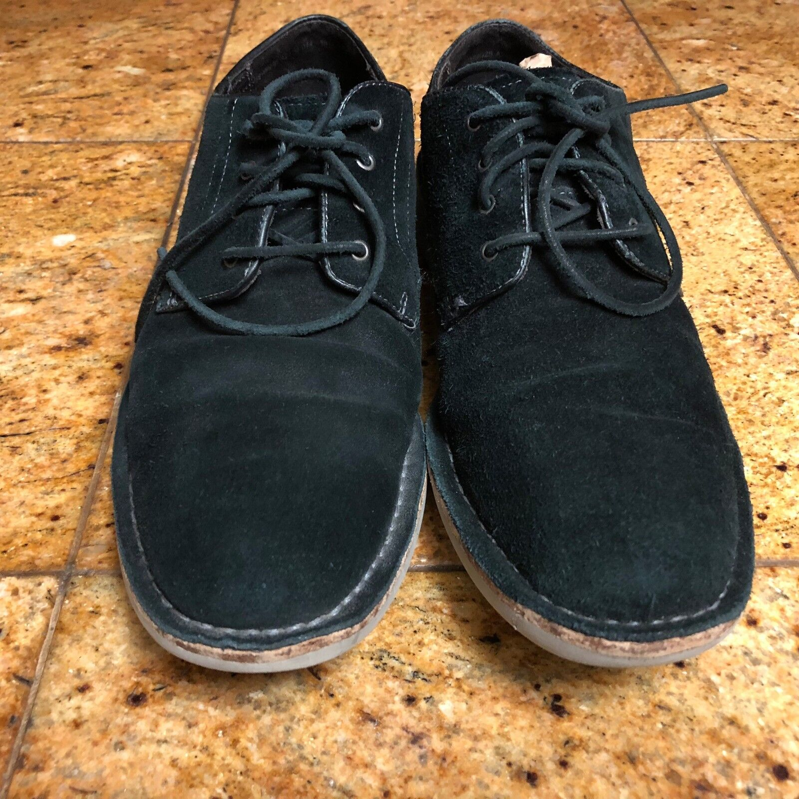 John Varvatos Sid Eva Suede Oxfords Charcoal Men Sz 10 M 3044
