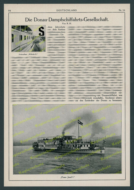 K.u.k. Dampfschiffahrt Danubio assalitore S.G. obuda cantiere gru ruota pale vaporetti 1916!!!
