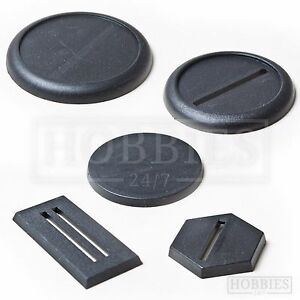 Plastic-Bases-20-25-30-40-50mm-Round-Square-Hexagon-RPG-Wargame-Plain-Base-Stand