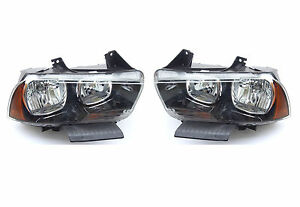 DODGE-CHARGER-2011-2014-FRONT-HEADLIGHT-LEFT-RIGHT-one-Set-USA-DOT-SAE