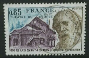 FRANCIA-1975-POPOLI-TEATRO-bussang-80th-Anniversario-Set-di-1-USATA-FINE-SG2085