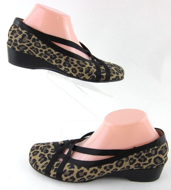 Taryn pink Low Wedge Flats Leopard Print Sz 40 EU   10 US Made In