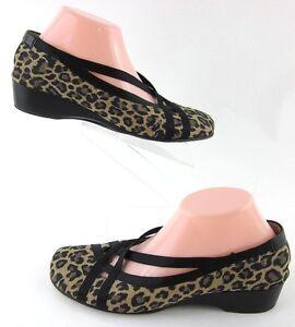 Taryn Rose Niedrig Wedge Leopard Flats Leopard Wedge Print Sz 40 EU   10 US Made In ... 7e64b3