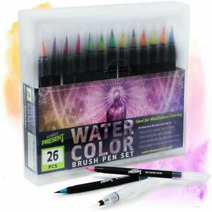 Details about Watercolor Brush Pens Set 25pcs Water Paint Markers Coloring  Drawing Calligraphy