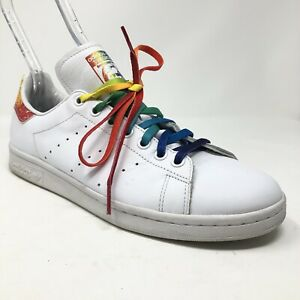 Adidas Stan Smith Pride Pack LGBT White Tennis Shoes Rainbow