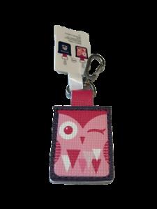 ALDI Quarter Keeper Winking Owl Bird Key Fob Chain Ring Tag Holder Pocket NEW