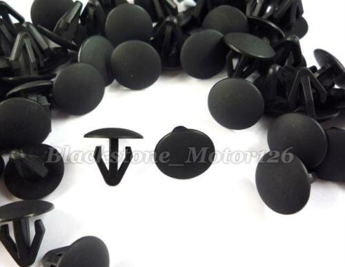 100 Retaining Clip Body Trim Retainer Black Plastic Fit 6mm Hole Fits For Nissan