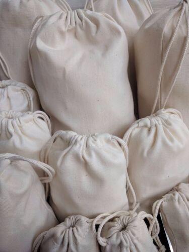 Cotton Canvas Double Drawstring Muslin Bag Premium Quality. Cotton Muslin Bag