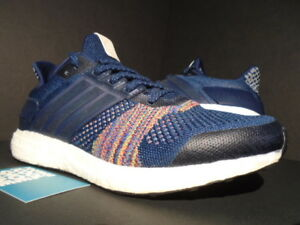 Details about ADIDAS ULTRA BOOST ST LTD COLLEGIATE NAVY BLUE WHITE MULTICOLOR YEEZY AQ5557 8.5