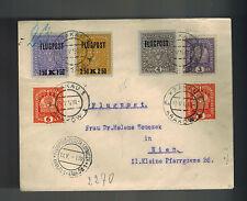 1919 Krakow Austria Poland Airmail Cover to Vienna # C1-C3