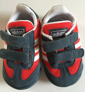 ADIDAS-Originals-UK-Size-2-Red-Dragon-Learn-2-Walk-Infant-Baby-Crib-Shoes
