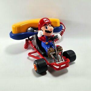 Nintendo Mario Kart 64 Telephone Vintage Novelty Missing back Wheels & Flag