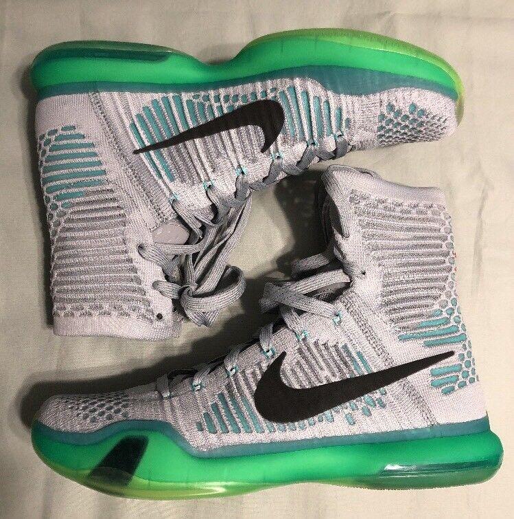 New Nike Zoom Kobe X Elite  Elevate  Men's Size 9 Wolf Grey Green 718763-041