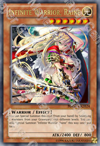 Yugioh-Orica-Infinite-Warrior-Renez-HOLO-FOIL-Custom-ANIME-Card-Holographic