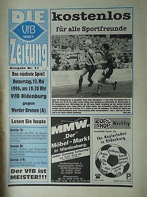 Friendly Sao Paulo Programm 1995//96 SV Werder Bremen Fortuna Düsseldorf