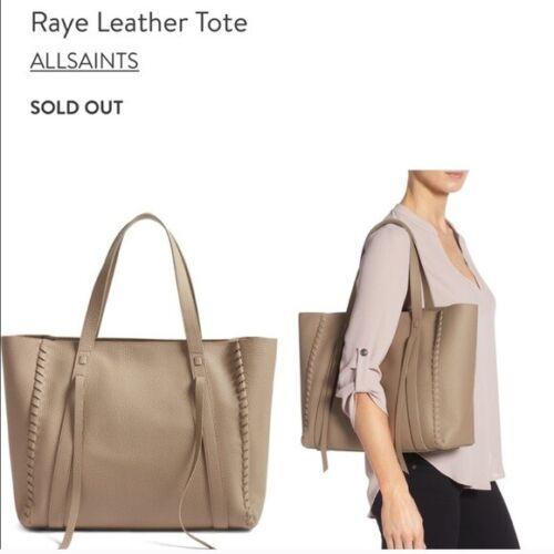 ALLSAINTS Raye leather tote mushroom 🍄