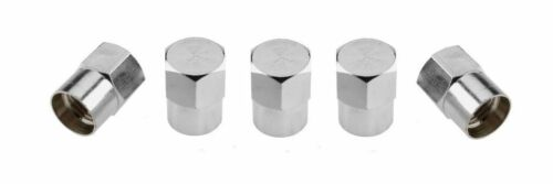 RUOTA IN LEGA CROMO Polvere Tappi x Set 5 in alluminio Hex valvola pneumatico si adatta HYUNDAI ISUZU D